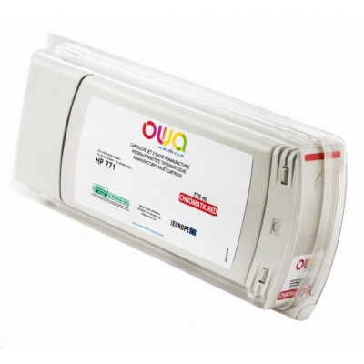 OWA Armor cartridge pro HP DesignJet Z 6200, 6800, 775ml, B6Y08A, Red