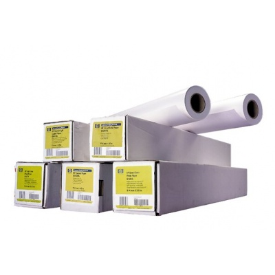 HP Heavyweight Coated Paper-1372 mm x 30.5 m (54 in x 100 ft),  35 lb,  130 g/m2, C6570C