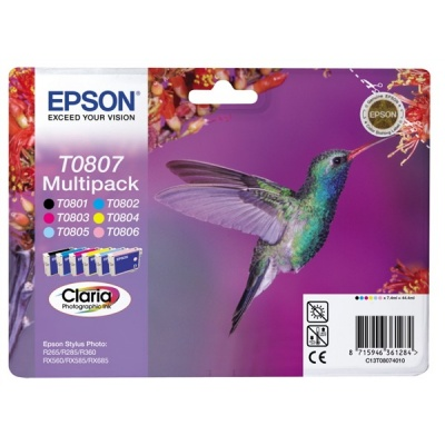 "EPSON ink čer+bar CLARIA Stylus photo ""Kolibřík"" R265/ RX560/ R360 - multipack"
