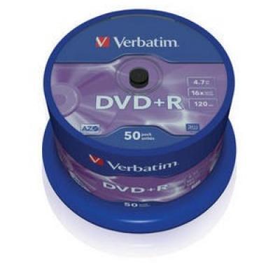 VERBATIM DVD+R(50-Pack)Spindle/General Retail/16x/4.7GB