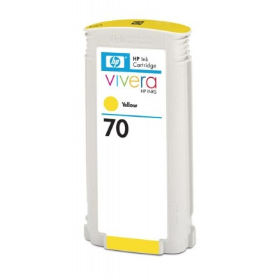 HP 70 Yellow DJ Ink Cart, 130 ml, C9454A