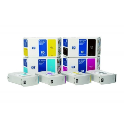 HP 80 Cyan DJ Ink Cart, 175 ml, C4872A