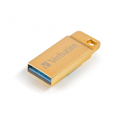 VERBATIM Flash Disk 16GB Metal Executive, USB 3.0, zlatá