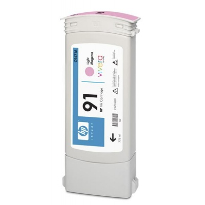 HP 91 Light Magenta DJ Ink Cart, 775 ml, C9471A